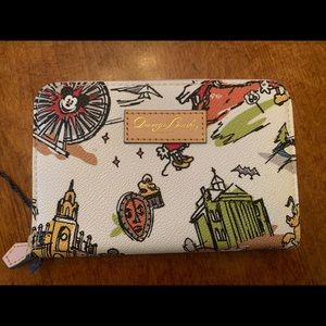 NWT Dooney & Bourke Disneyland zip wallet